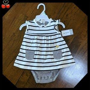 🍒NWT Striped Dress Bodysuit 💕